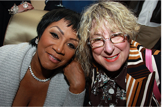 With Patti LaBelle, the first artist to regularly record my songs starting in 1978. - 1/9/08 at The Color Purple