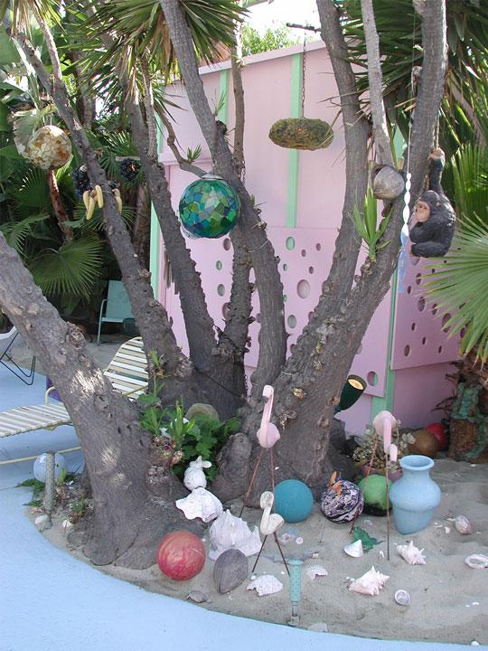 allee willis art architectural art bowling ball garden