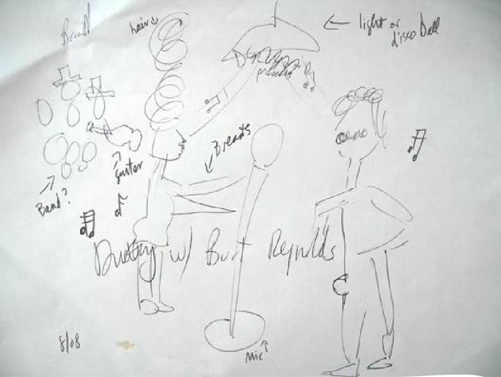 allee willis art burt with dolly wood sketch 2008
