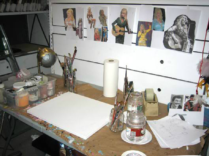 allee willis art burt with dolly wood empty canvas