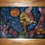 allee willis art early allee art fiddler on the roof framed