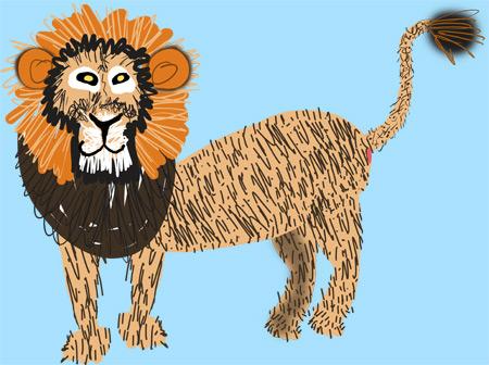 lion-flat