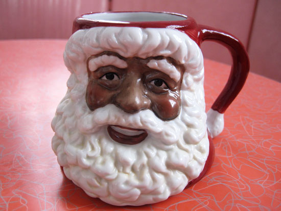 Allee Willis Blog 187 Black Santa Cup