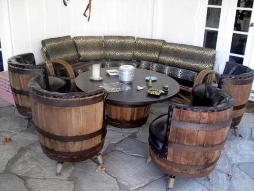 Vintage Barrel Table & Chairs- The Allee Willis Museum of Kitsch