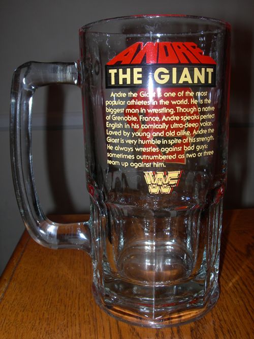 Andre The Giant Beer Mug The Allee Willis Museum Of Kitsch