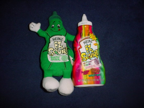 Ez squirt colored ketchup